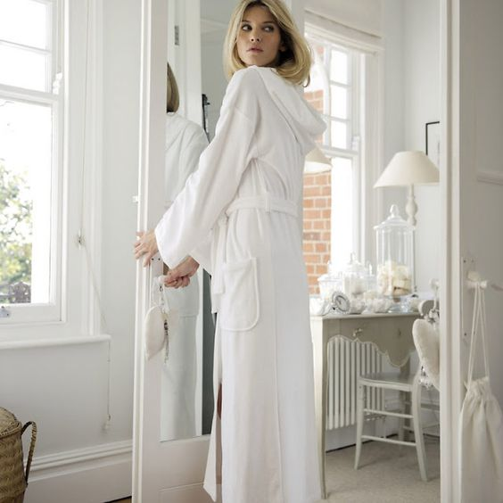 White Company's perfect white hooded robe