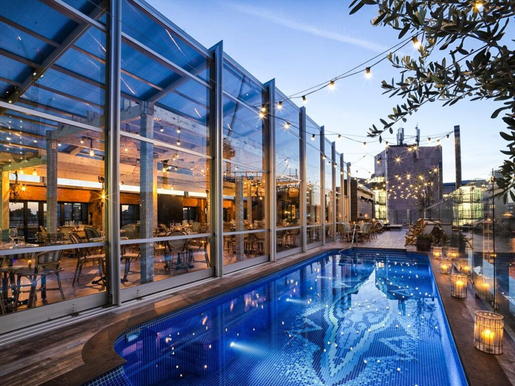 Lido at The Curtain Hotel London Rooftops And Restaurants