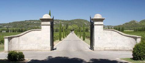 The entrance driveway
