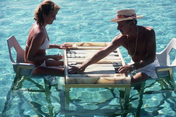 Backgammon Players - Slim Aarons