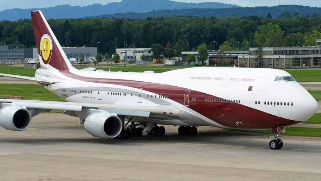 One of many official aircraft utilised by the Emir for official engagements