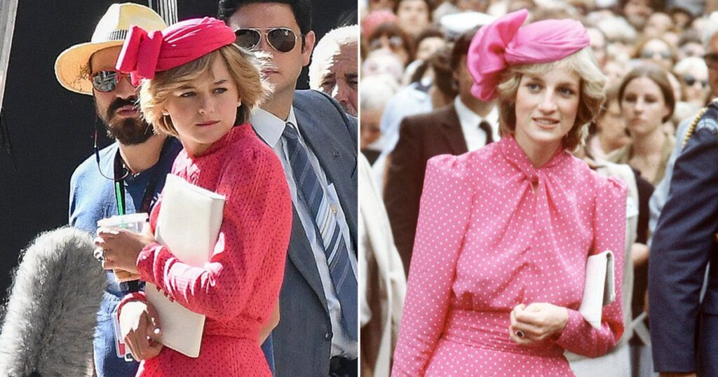 Emma Corrin's uncanny resemblance as Princess Diana in The Crown