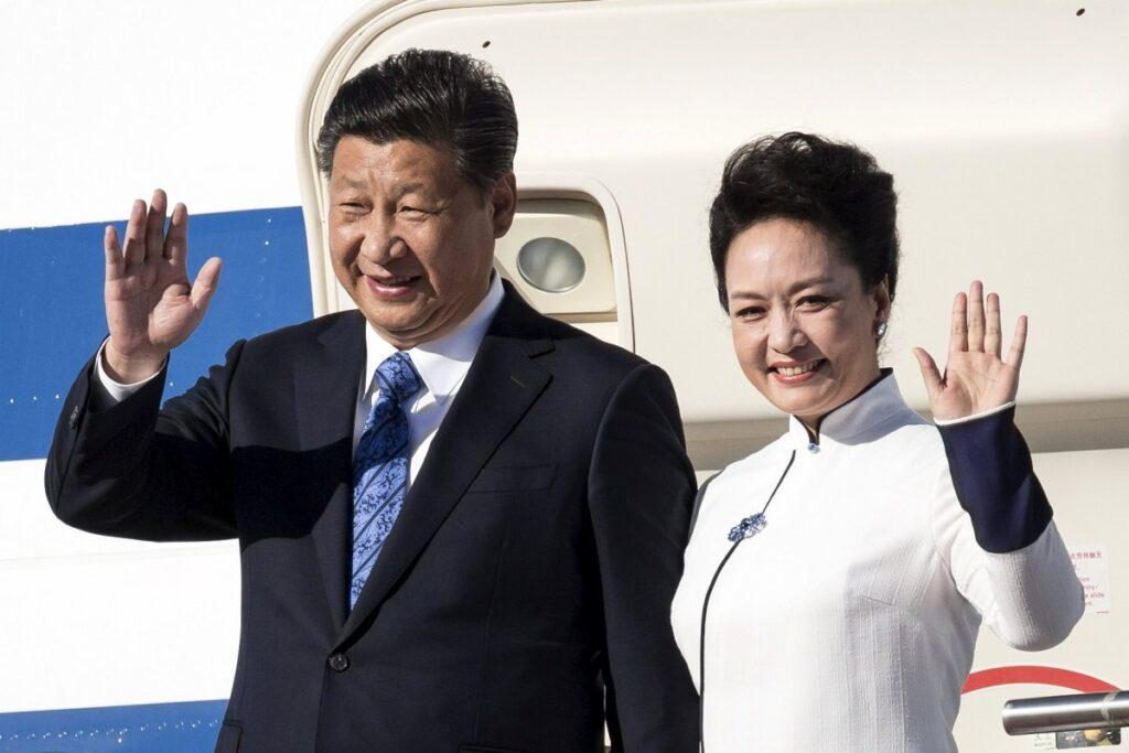 Xi Jinping and his wife Peng Liyuan
