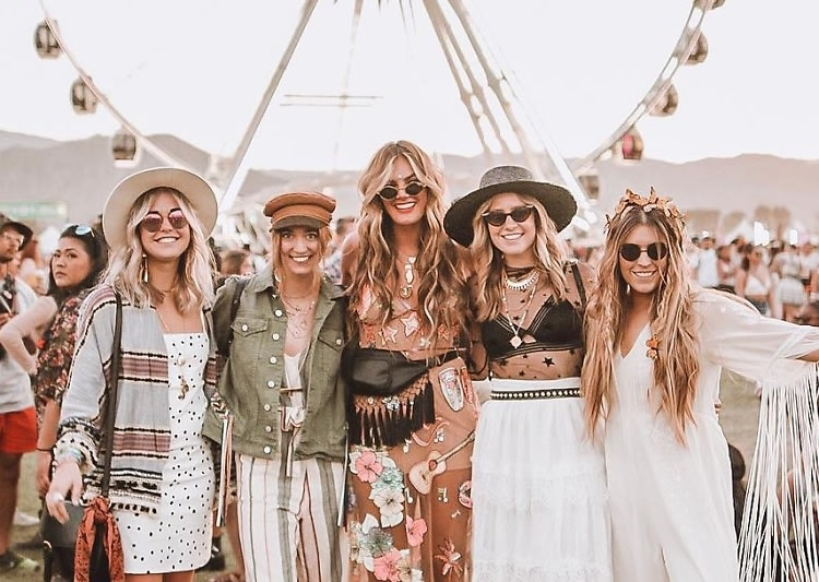 Festival goers are known for their creative boho outfits - Coachella
