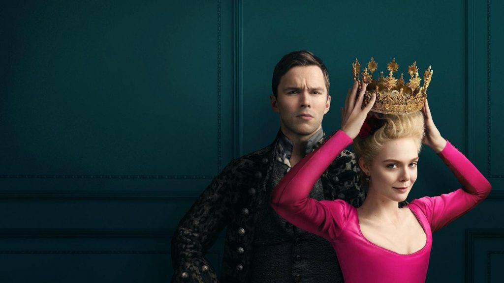 The Great, starring Elle Fanning and Nicholas Hoult as the Empress and Emperor of Russia