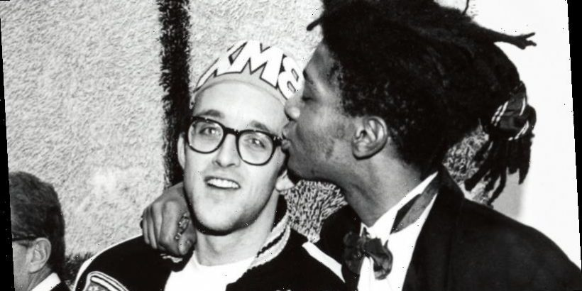 Haring with Basquiat