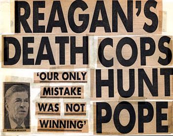 Reagan Slain by Hero Cop