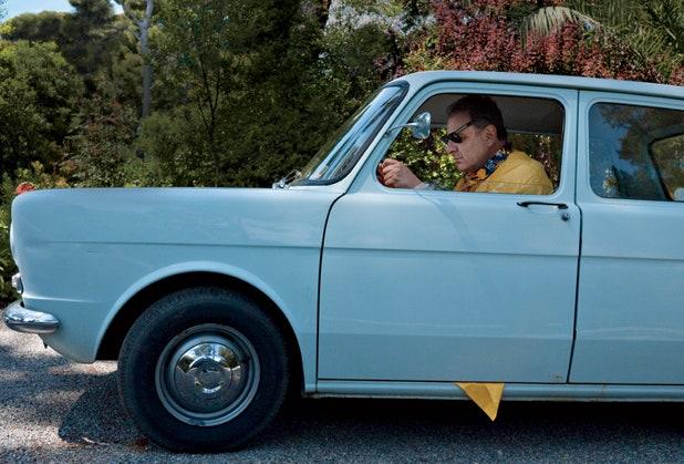 Jean Pigozzi driving a Simca