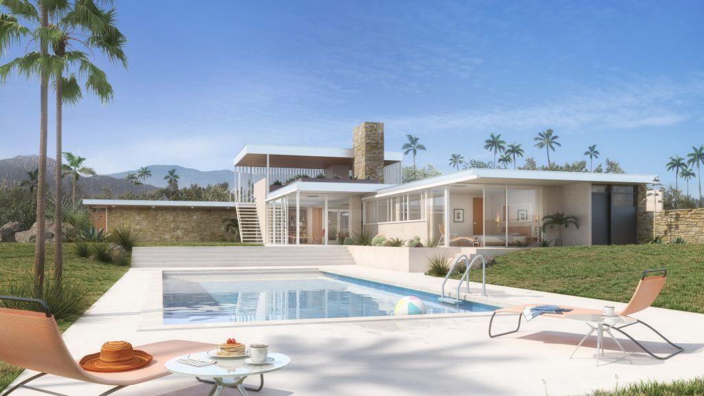 The Kaufmann Desert House built for Edgar and Liliane Kaufmann in 1946 by star architect Richard Neutra