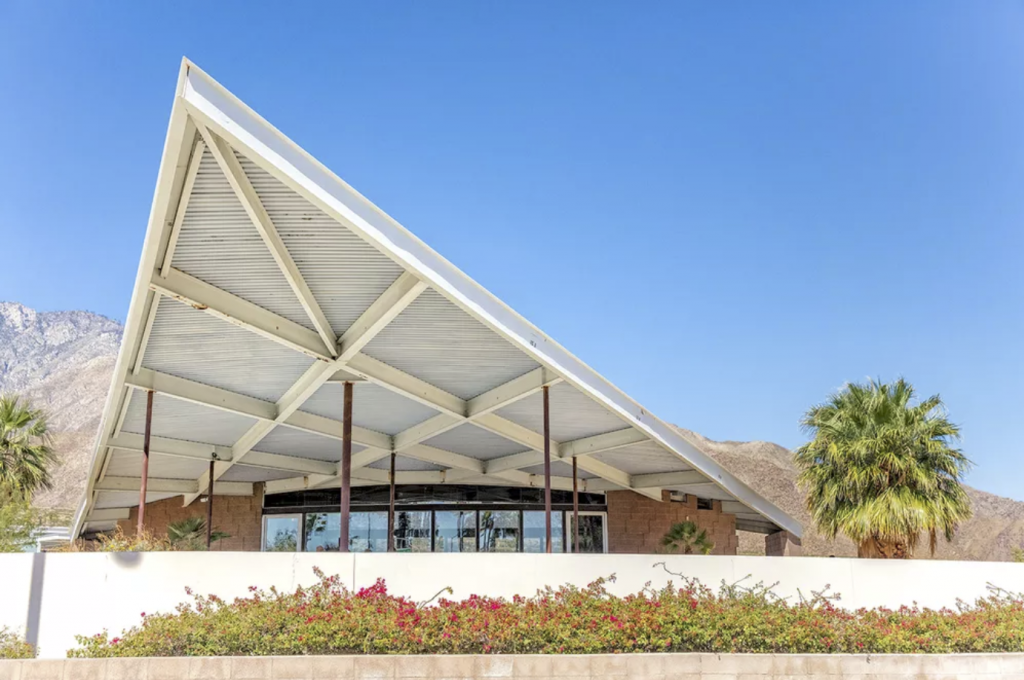Originally an Enco gas station it was built by by architects Albert Frey and Robson C. Chambers.  — Palm Springs