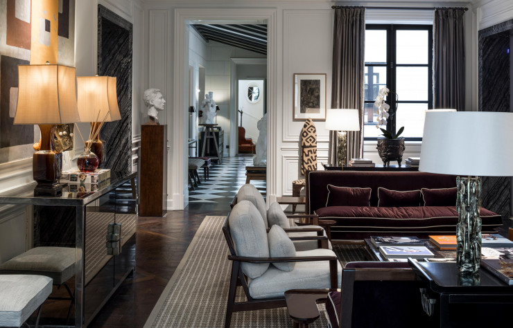 Perfect tones and colours complement the eclectic furnishings — paris fashion week