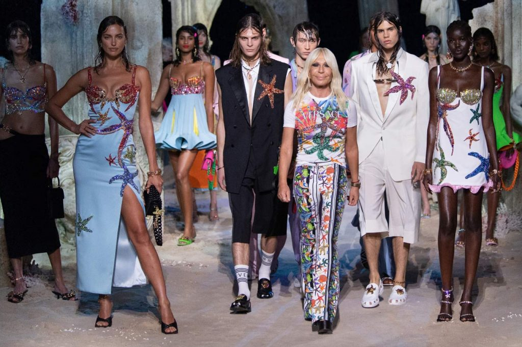 Donatella and her SS21 collection — Milan Fashion Week