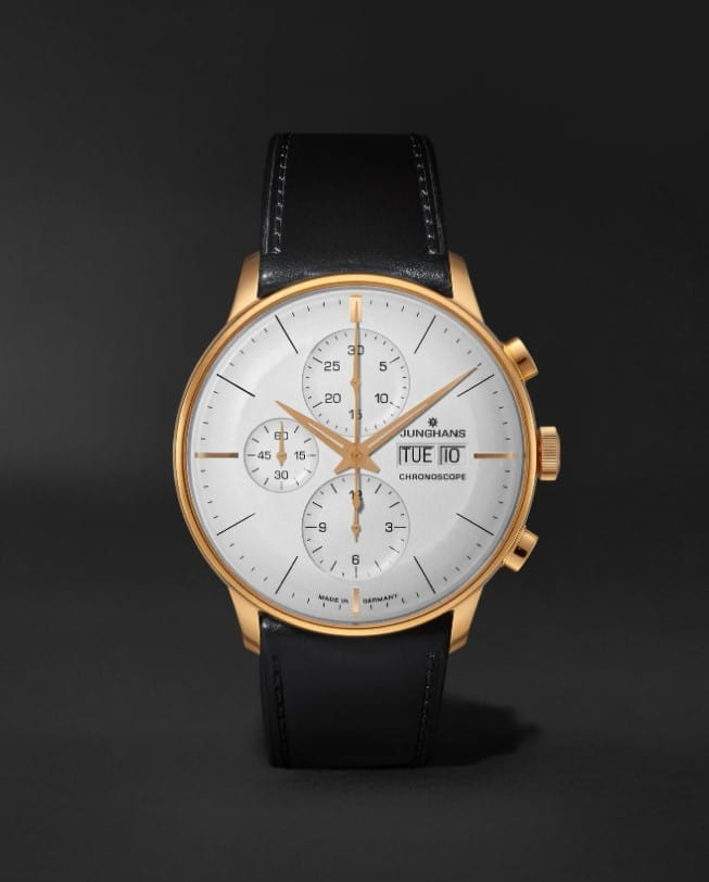 Junghan's Meister Chronoscope Leather Watch