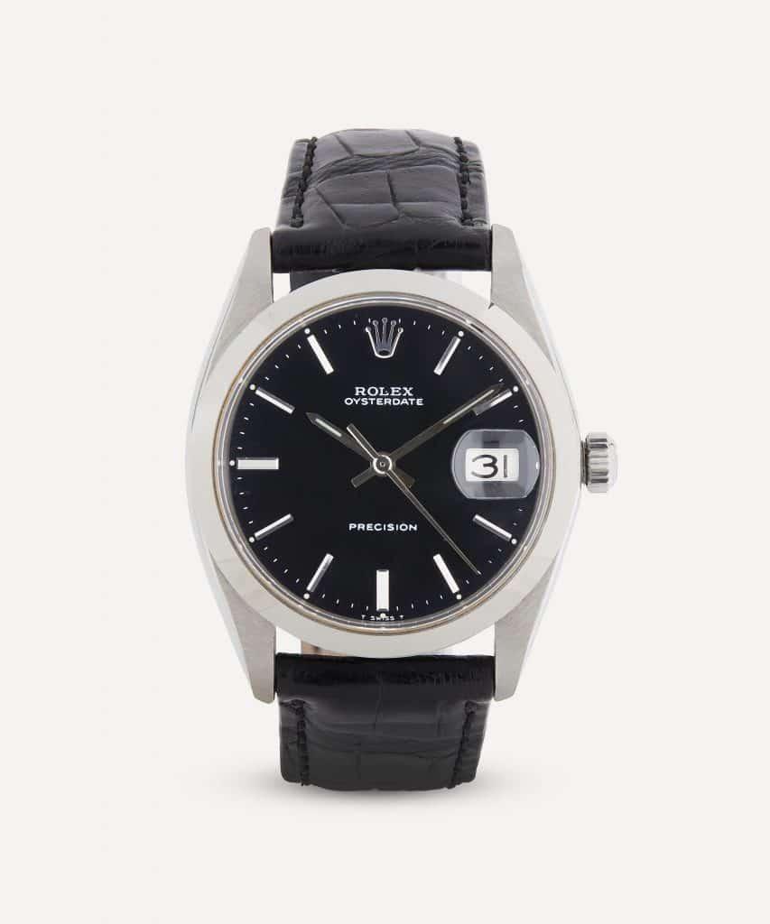 1960s Rolex Oysterdate Precision White Metal Watch — Luxury Watches