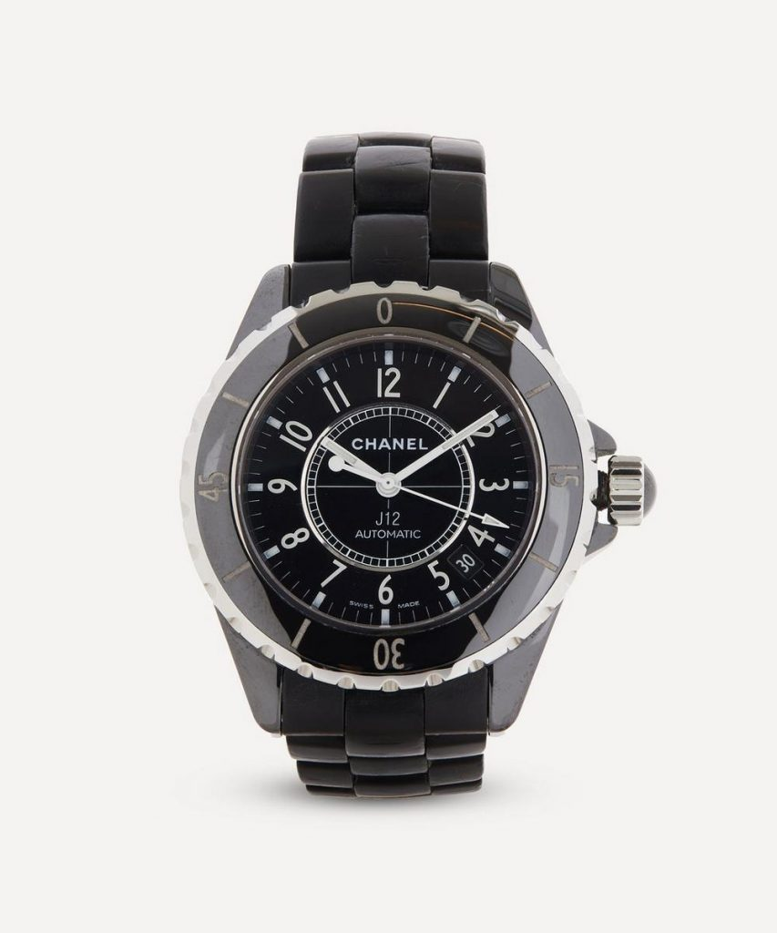 1990s Chanel J12 Black Ceramic and White Metal Watch — Luxury Watches