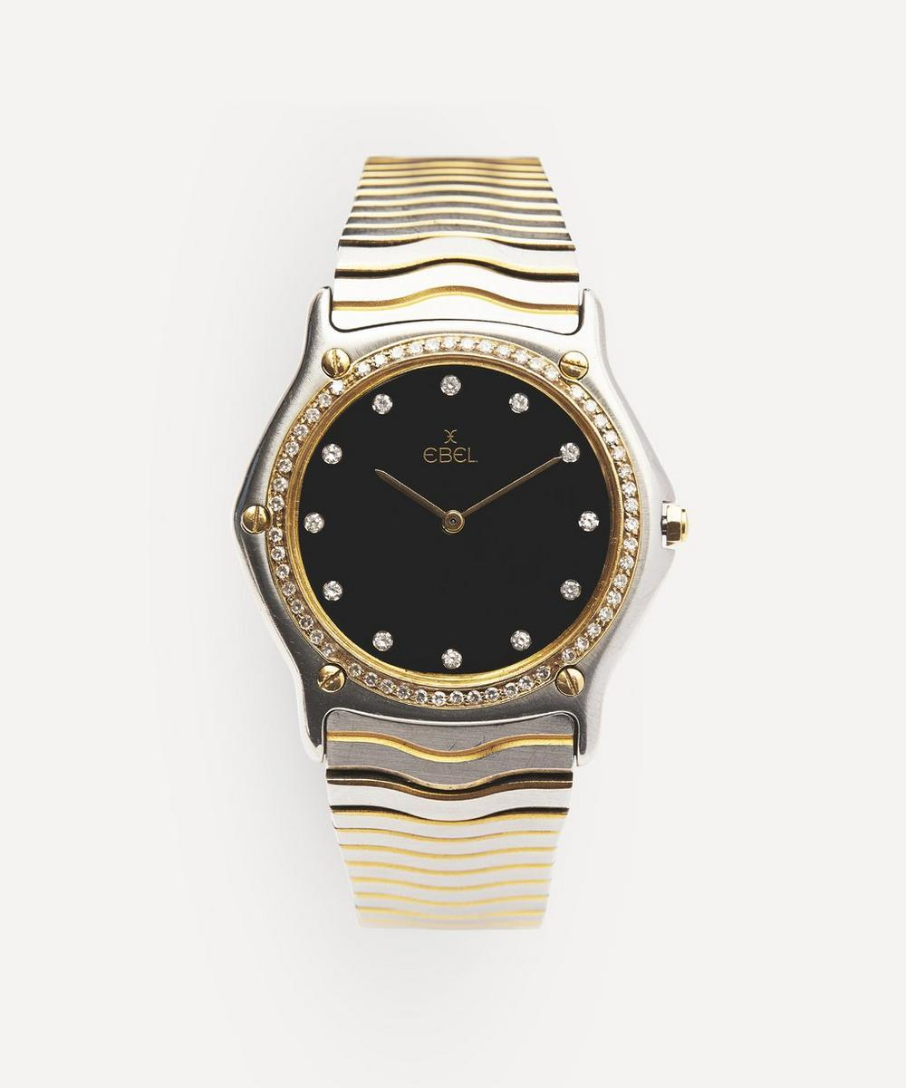 1990s Ebel Wave 24 Carat Gold, White Metal And Diamond Watch  — Luxury Watches