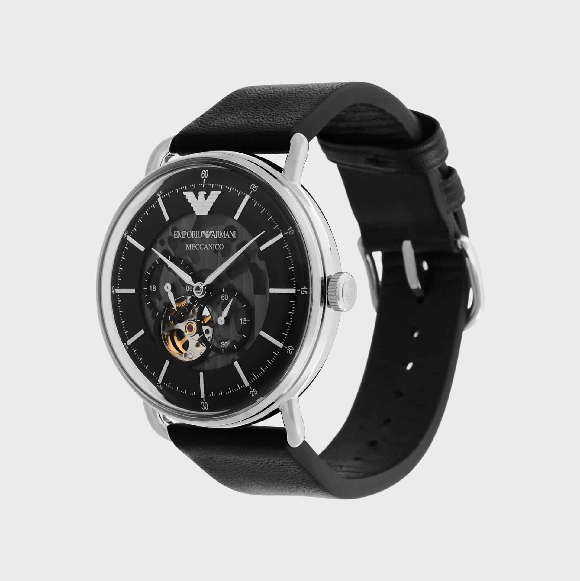 Emporio Armani Stainless Steel Chronograph Watch — Luxury Watches